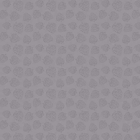 Abstract simple strawberry vector pattern in a grey palette