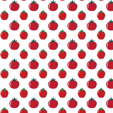 Tomato vector pattern on a white background Иллюстрация