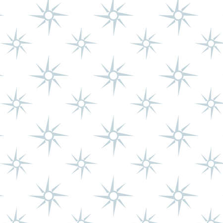 Simple compass vector pattern in light blue and white background