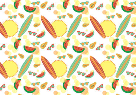Summer colorful vector background
