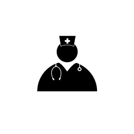 Nurse medical vector icon Иллюстрация