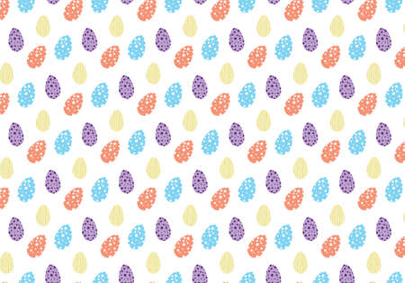 Easter eggs colorful vector pattern Фото со стока - 125977015
