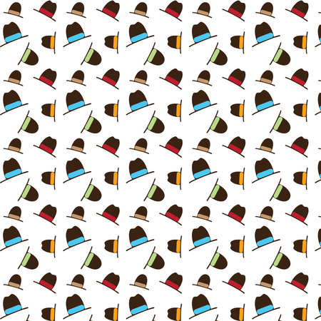 Hats vector pattern