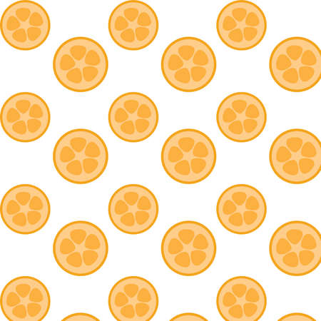 Kumquat citrus vector pattern background Иллюстрация