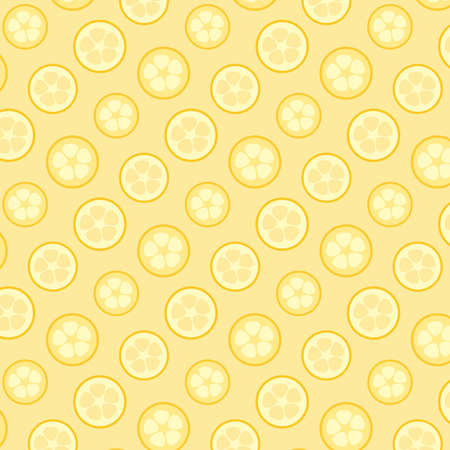 Lemon citrus sliced vector pattern