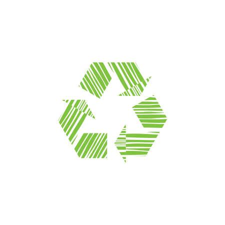 Universal recycling symbol vector icon