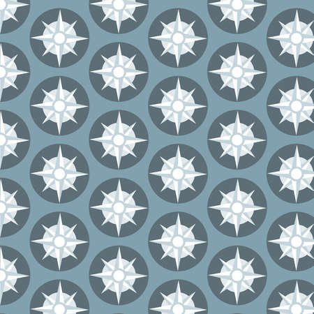 Compass vector pattern on blue