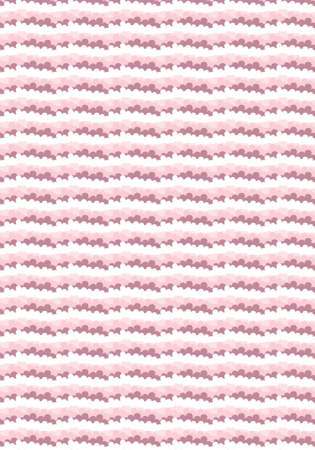 Pink clouds vector pattern