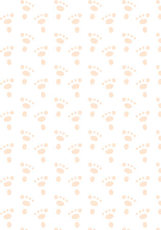 Rabbit footprint vector pattern