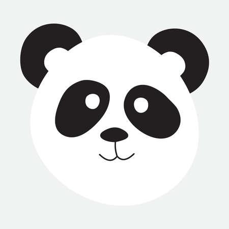 Panda bear portrait vector illustration