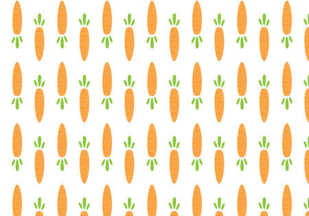 Carrot orange vector illustration on a white background Иллюстрация