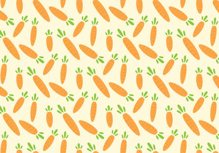 Carrot orange vector illustration on a yellow background Иллюстрация
