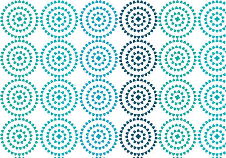 Blue, green and turquoise vector pattern for yoga mats Иллюстрация