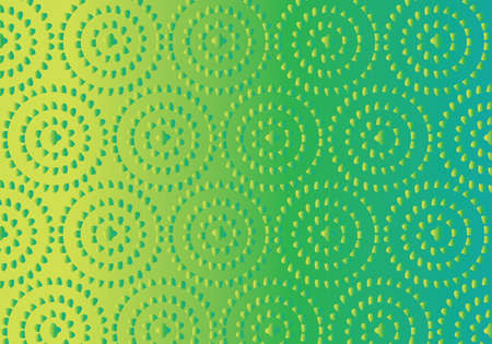Yoga mat vector pattern in green and yellow