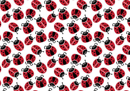Ladybug vector pattern for kids wrapping birthdays