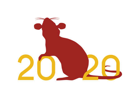 Happy Chinese New Year 2020 year of the Rat vector illustration