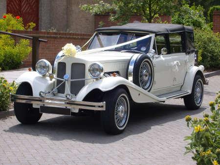 Vintage Wedding Car Stock Photo - 24927625