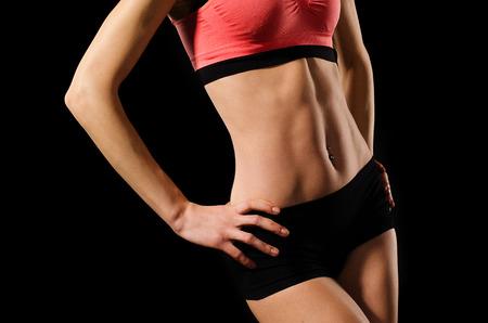 abdominals: Female abdominals with muscular press