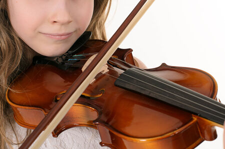 violinist playing the violin. photo session in studio photo