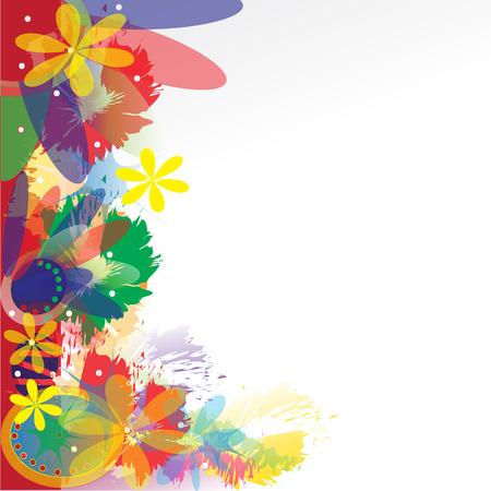 siluetas: abtract background flower