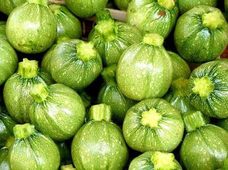 Zucchini at the market Stock Photo