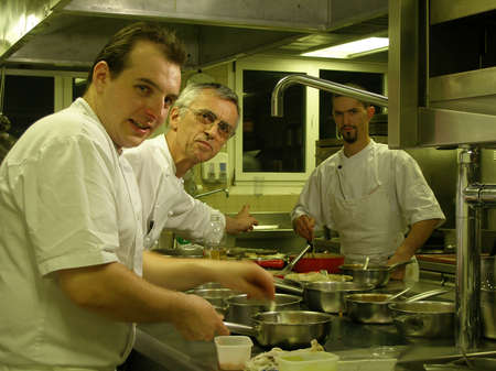 Chefs during rush hours in the kitchen