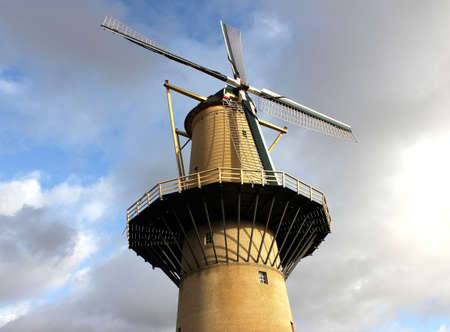 schiedam: Very high windmill in Schiedam Stock Photo