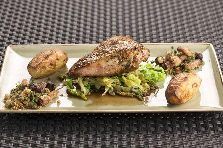 savoy: Roast Pheasant crown, chestnut stuffing & Savoy cabbage