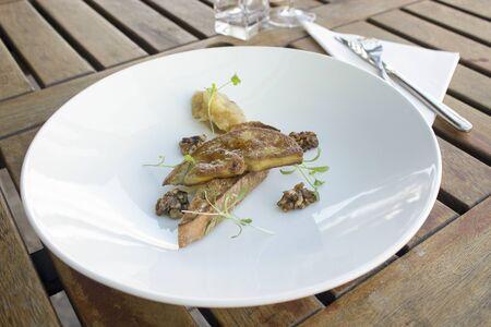 chutney: Foie gras with apple chutney