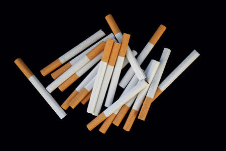 fag: cigarettes lies small circle Stock Photo