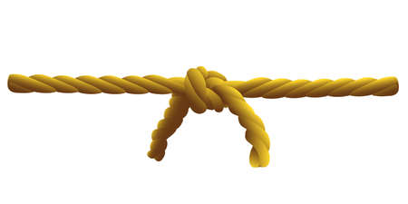 cable knit: two ropes tied a strong knot, a symbol of friendship, agreement, contract