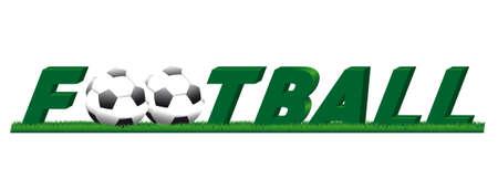 Iscrizione squadra di calcio giocare con la palla e l'erba del prato Archivio Fotografico - 53666328