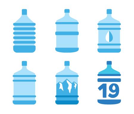 19: Bottles mountain water to 19 liters Illustration