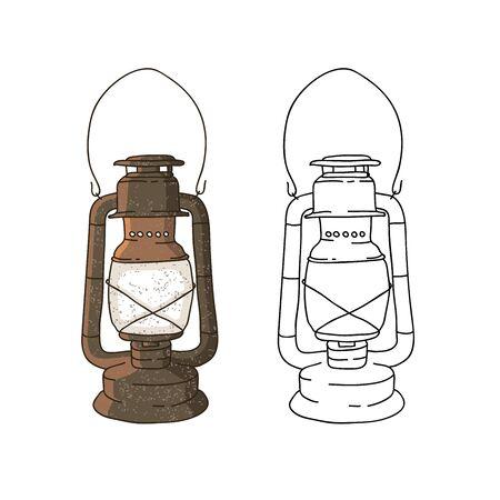 old lamp: Old lamp. Vector illustration on white background. Illustration