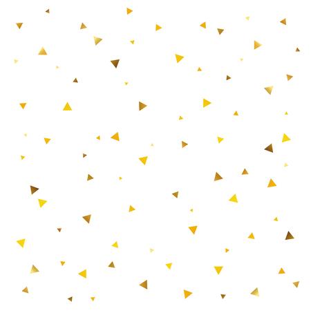 Abstract pattern du triangle d'or sur un fond blanc. confetti fête. Un grand fond pour une carte-cadeau. Banque d'images - 53774108