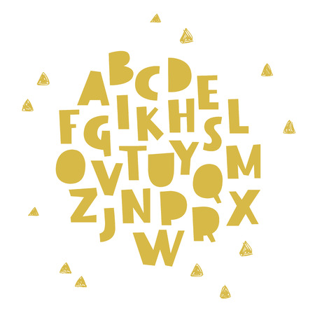 custom letters: Vector hand drawn alphabet. Brush painted letters. Lettering and custom typography for designs