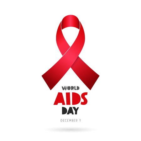World AIDS Day. December 1. Lettering.