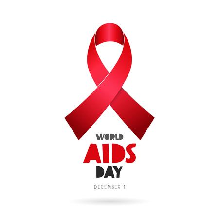 hepatitis prevention: World AIDS Day. December 1. Lettering.