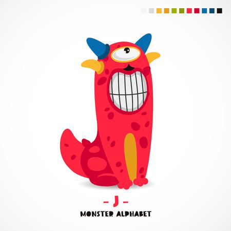Monster alphabet. Illusztráció