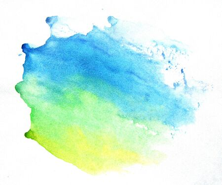 smudge: Watercolor green-blue background. Beautiful abstraction.