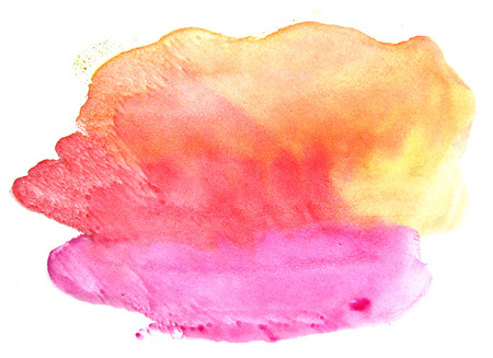 monotype: Watercolor stain on a white background. Abstract splash.