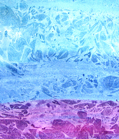 monotype: Watercolor abstract blue and violet background. Design concept. Sea and ocean.