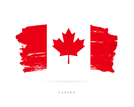 Flag of Canada Vector illustration Illustration