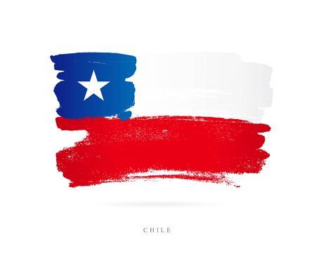 칠레의 국기 벡터 일러스트 레이션