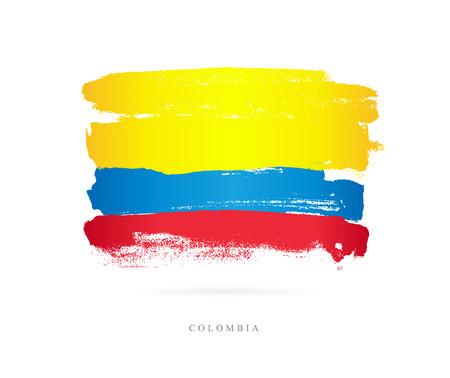 Flag of Colombia Vector illustration Illustration
