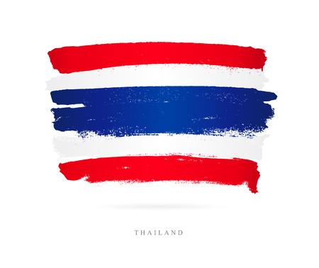 Beaux coups de pinceau, concept abstrait du drapeau de la Thaïlande. Banque d'images - 86737615