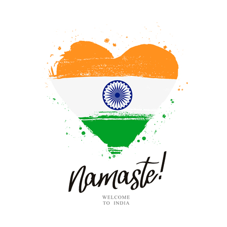 Namaste hindi greeting.