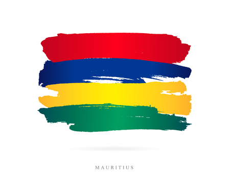 Flag of Mauritius illustration.