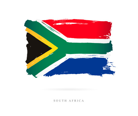 Flag of South Africa Vector illustration on white background.