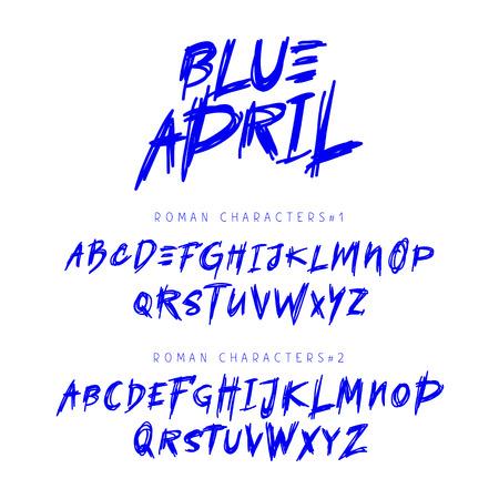 Vector unique cute handdrawn font. Lettering, typography. English alphabet. Elements for design. Illustration